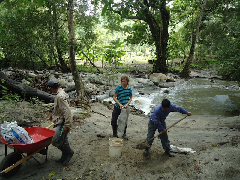 Taking sand out of the river