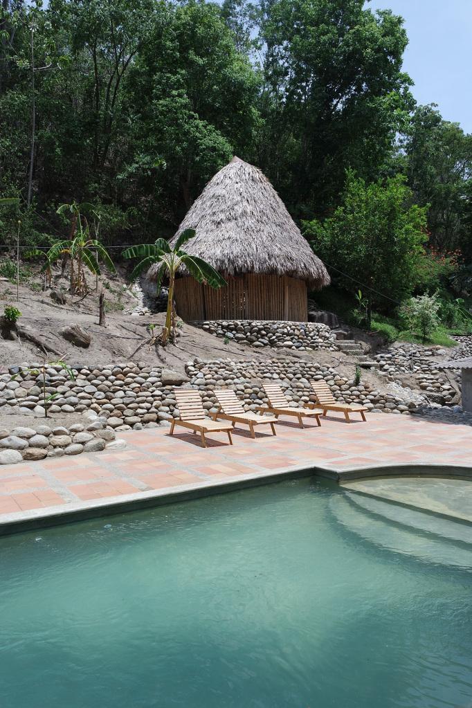 Finca Carpe Diem swimming pool and dormitories