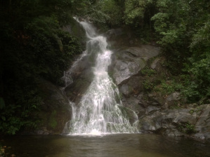 Waterfall near Finca Carpe Diem, paso del Mango, around Minca