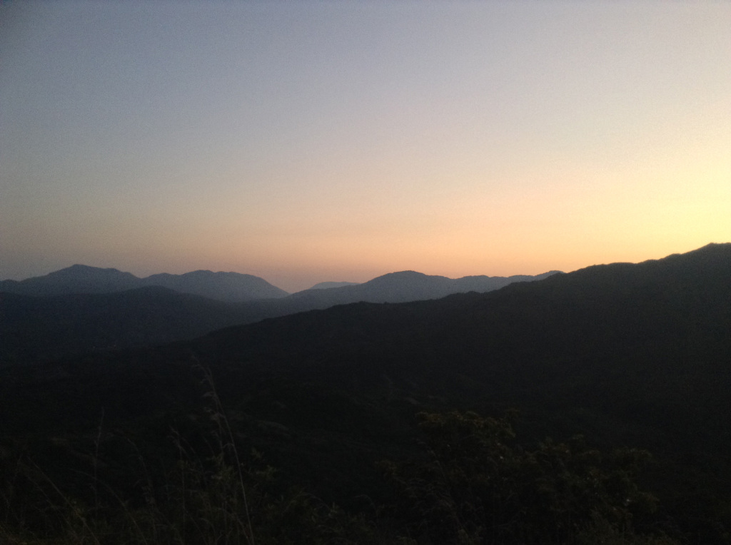 Mountains sunrise from Santa Marta Viewpoint at Finca Carpe Diem