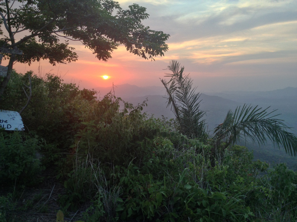 Santa Marta sunrise from Santa Marta Viewpoint at Finca Carpe Diem