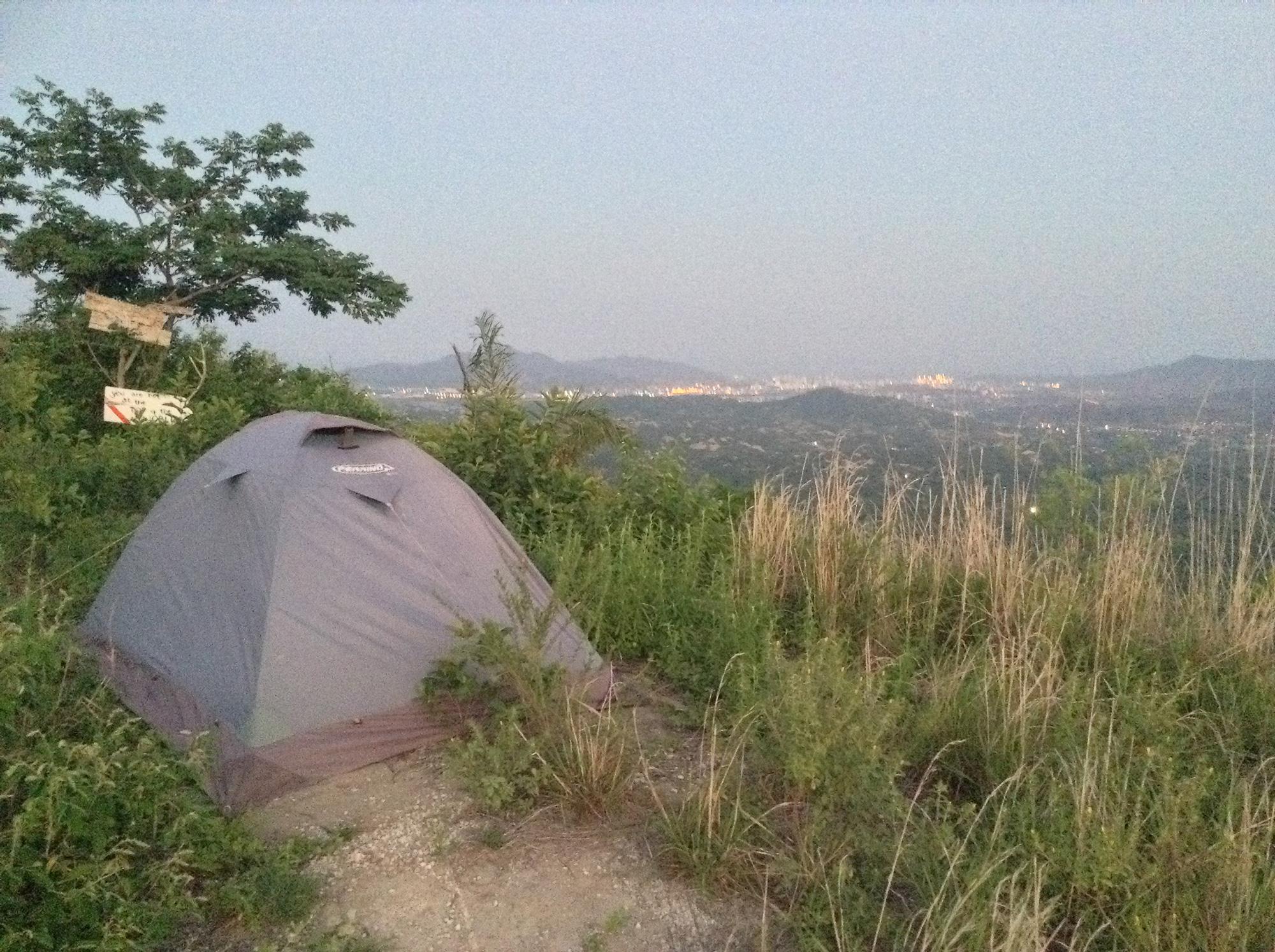 Camping at the Santa Marta viewpoint