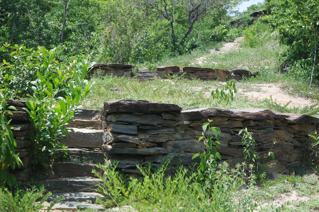Closeup of the Tayrona terrace in the Mini Ciudad Perdida