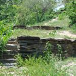 Closeup of the Tayrona terrace in the Mini Cuidad Perdida
