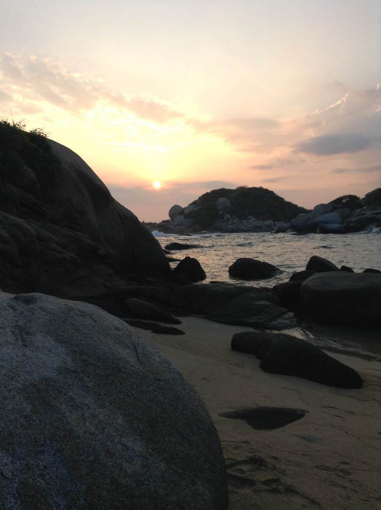 Sunrise near Cabo San Juan, Tayrona national park