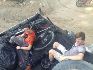 Biking around Minca - an option is to get a truck to the villages higher up on the mountain