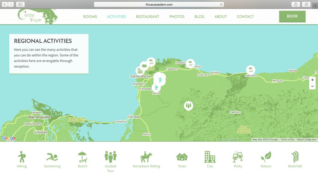 Finca Carpe Diem Activity Map