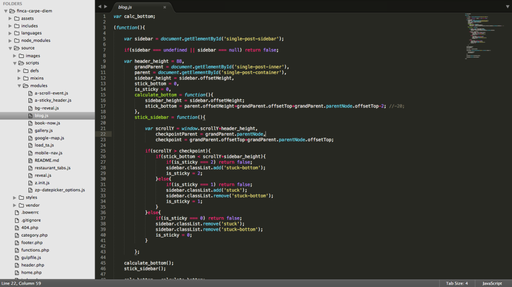 Developing (Coding) Finca Carpe Diem's Website