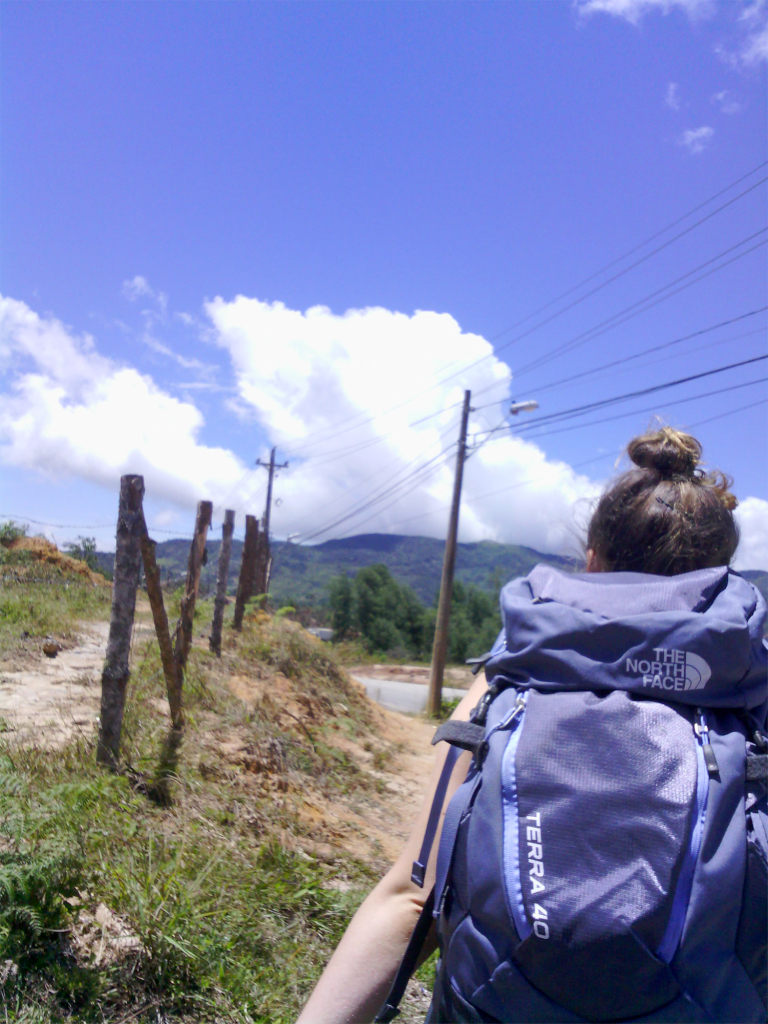 A backpacker in Paso del Mango