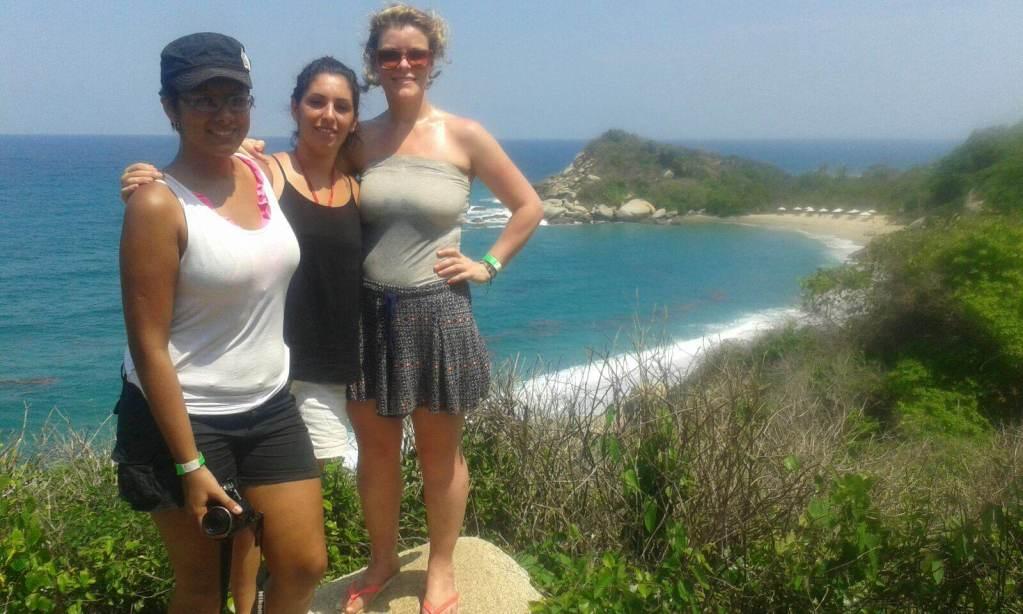 Three lovely ladies in Tayrona national park