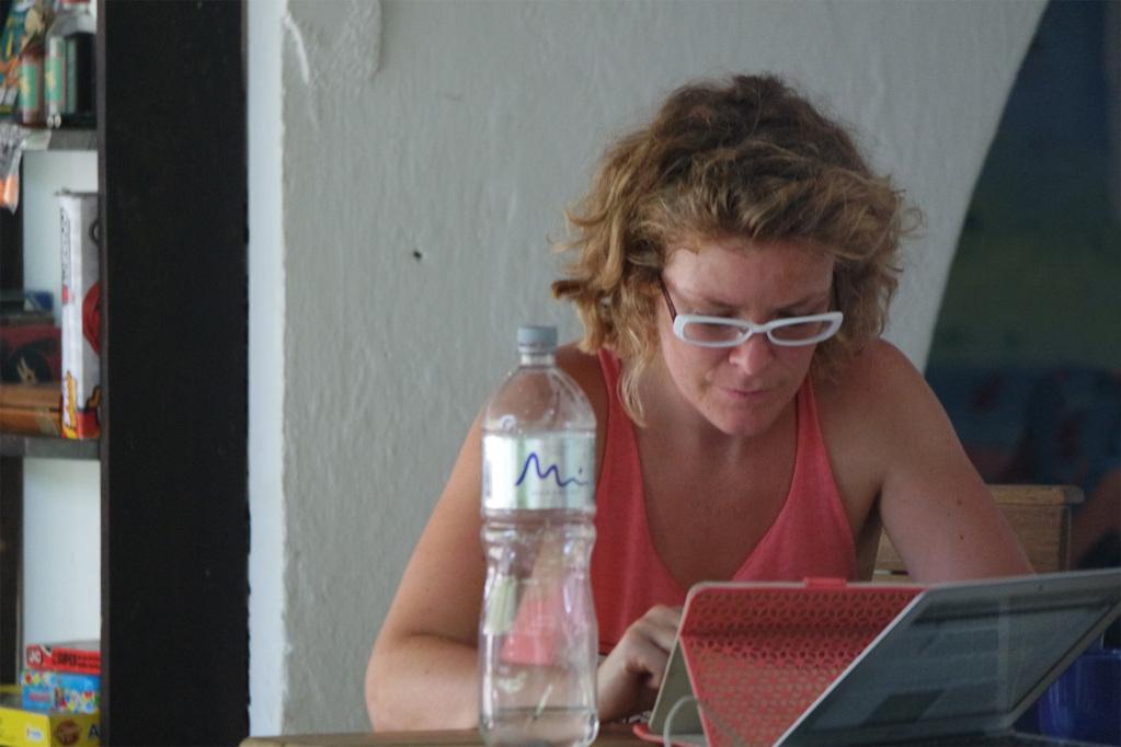 Norma, a volunteer at Finca Carpe Diem