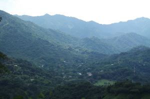 Minca from above in the mountains