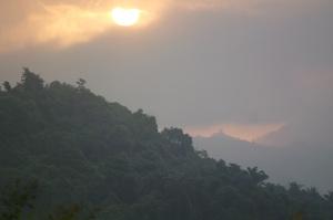 Sunset around Minca, not far from Oscar' place