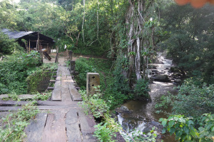 Crossing the bridge to Pozo Azul